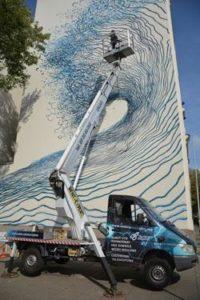 Mural wŁodzi przy ulicy Łąkowej, źródło: Rent-Expert