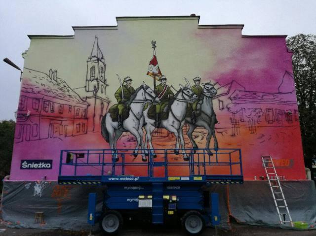 Mural wDębicy, źródło: Fresh Vision Studio, fot.Bartosz Jakubiec