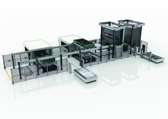 LaserFLEX 4.0 - system dwuwieżowy typu Basic Tower