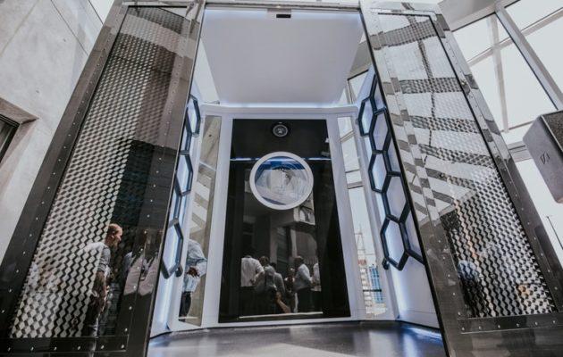 Nowoczesna kabina dla systemu dźwigów bez liny MULTI