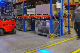 Linde BlueSpot – światło LED, które zapewnia operatorowi większe bezpieczeństwo (źródło: Linde Material Handling GmbH)