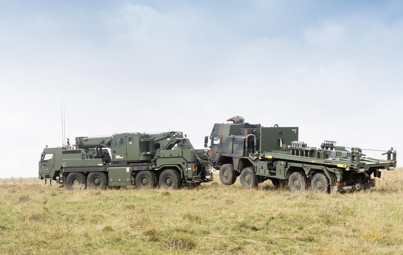 Pojazd ewakuacyjny Liebherr G-BKF jest przeznaczony doodzyskiwania iholowania różnych pojazdów