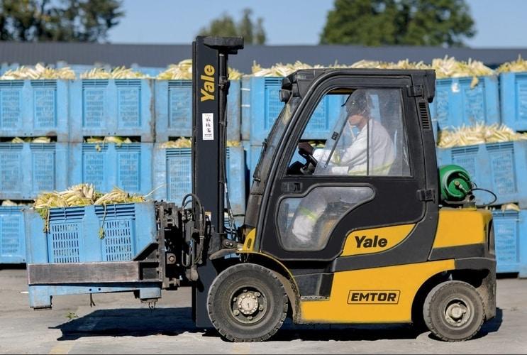 Wózki widłowe Yale wfabryce Bonduelle dostarczony przez Emtor